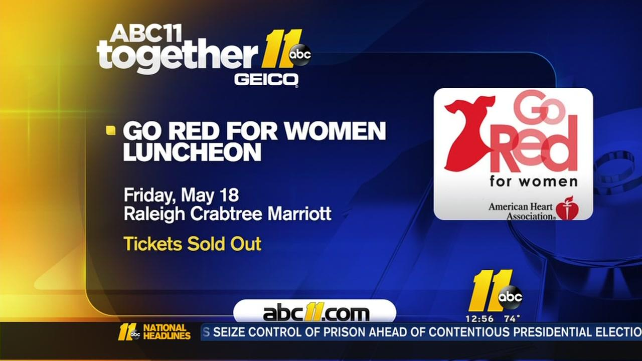 Go Red for Women Luncheon Friday May 18