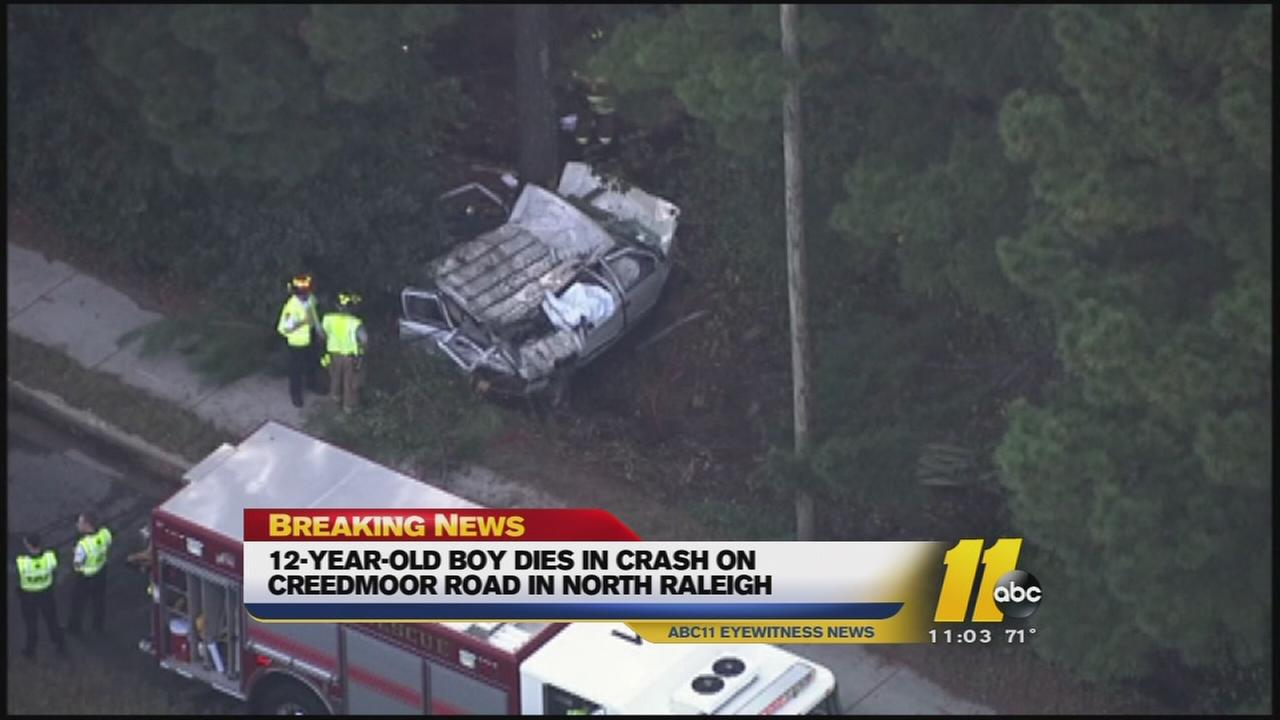 12-year-old killed in Creedmoor Road accident