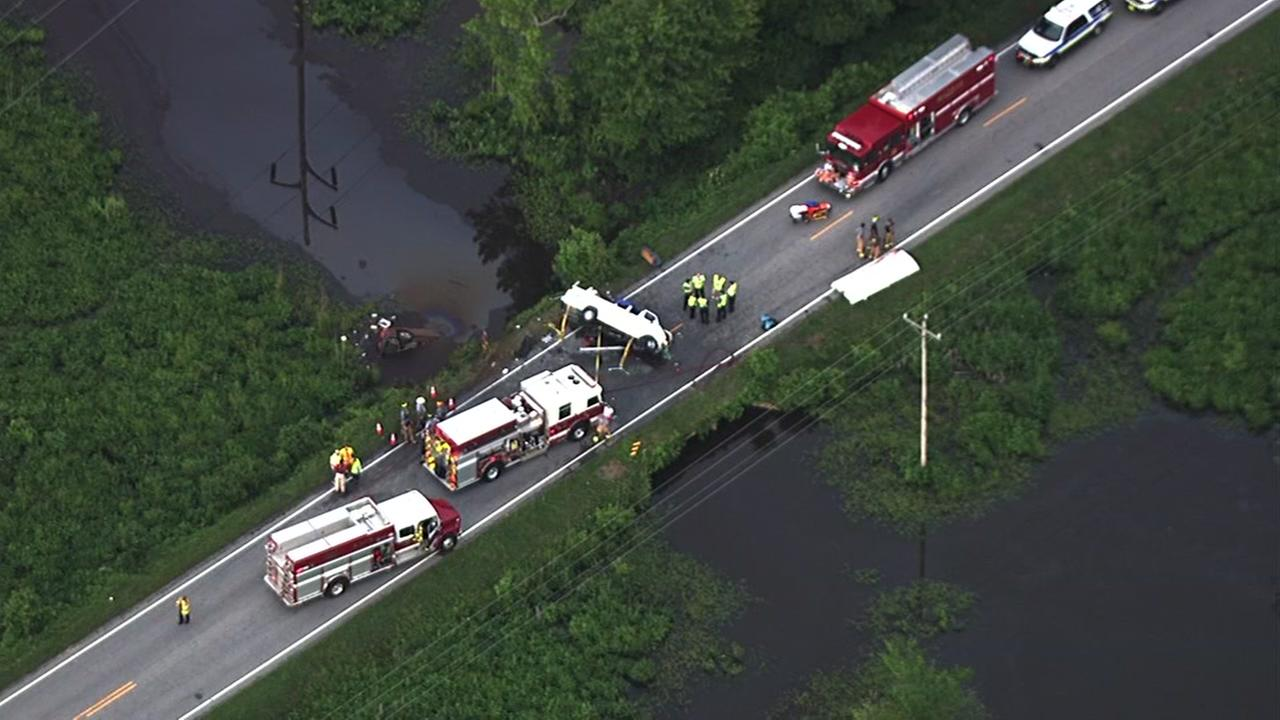 At least one dead in crash involving church van in Wake County