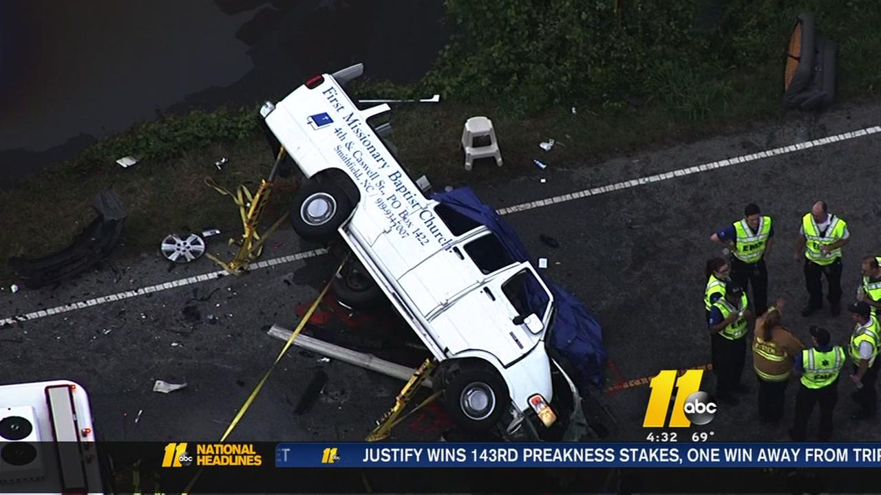 At least one dead in crash involving church van off Zebulon Road