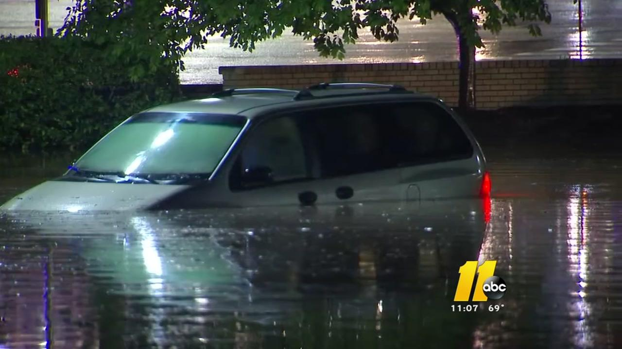 Heavy rain, flooding plagues Raleigh