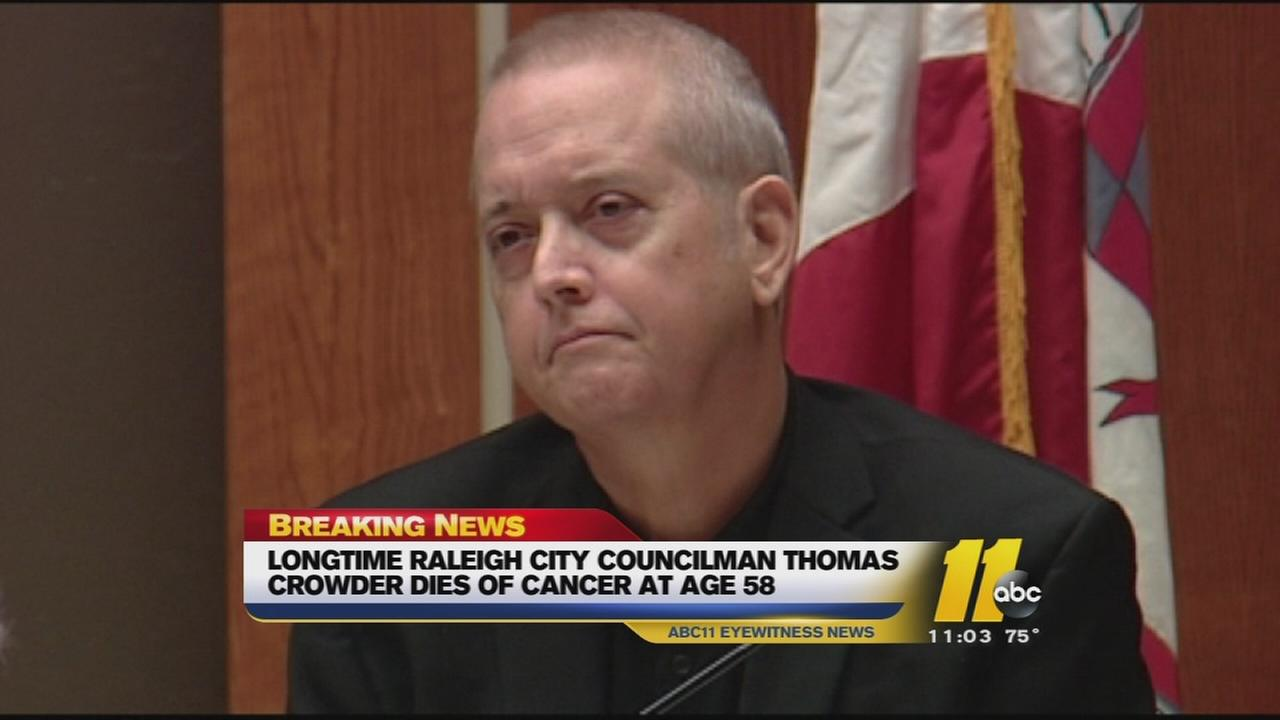 Former Raleigh Councilman Thomas Crowder dies of cancer