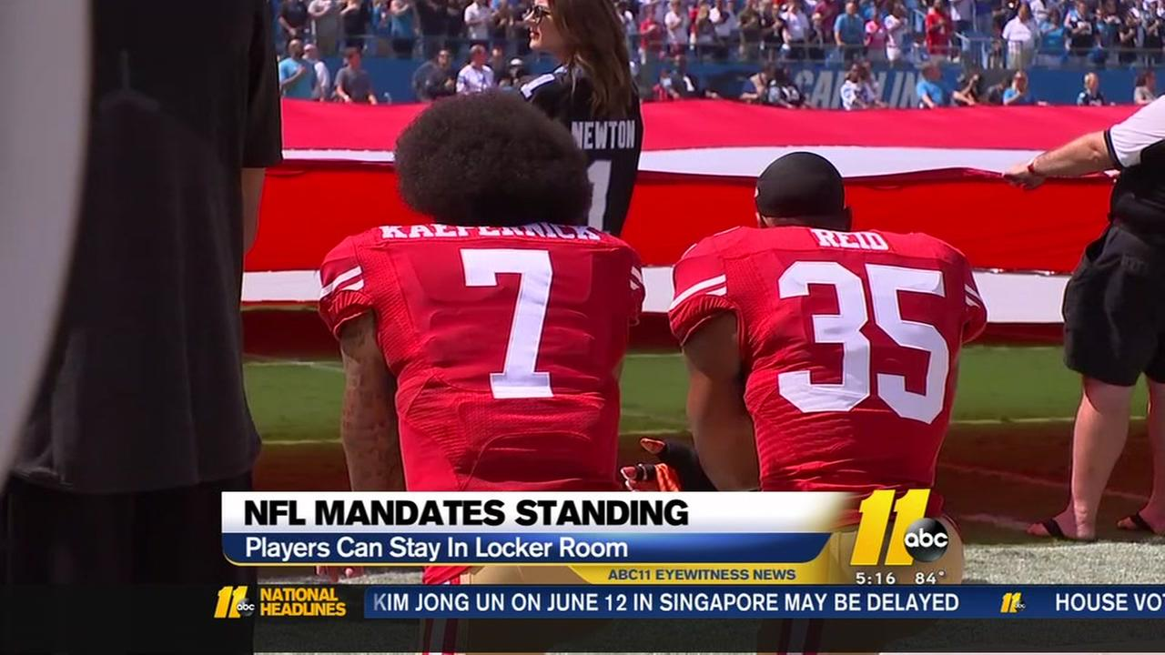 NFL issues mandate for players to stand during national anthem