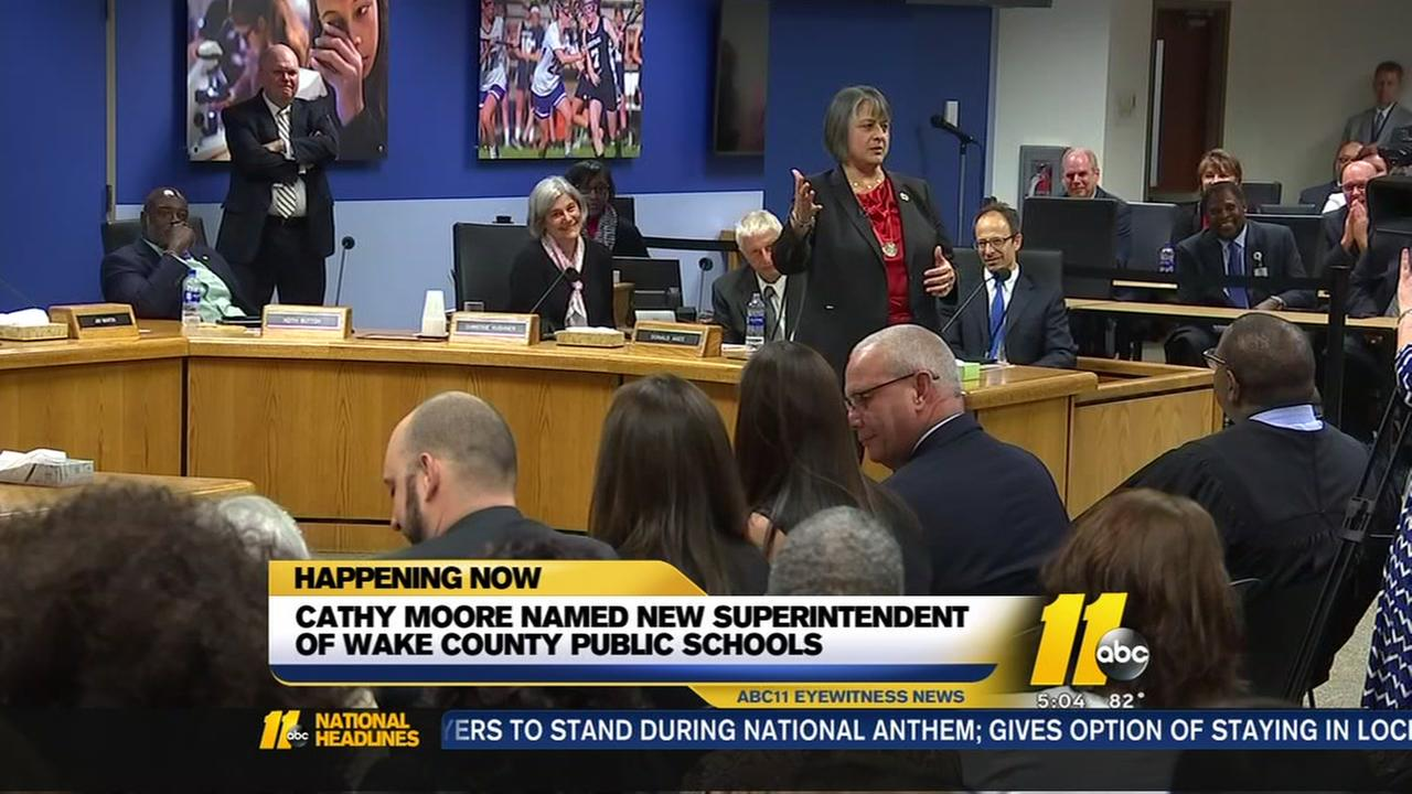 WCPSS names Cathy Moore as new superintendent