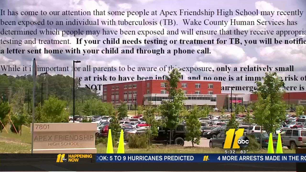 Hundreds of students may have been exposed to TB at Apex High School