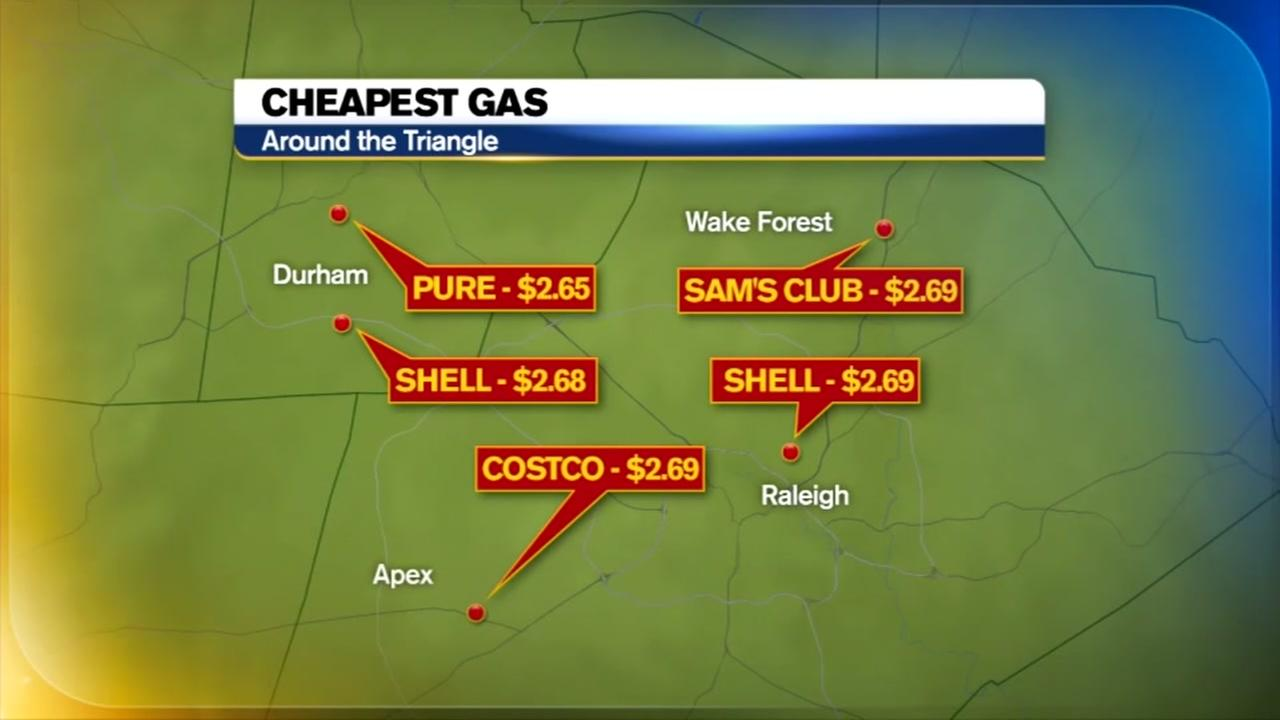 Cheapest gas prices in the Triangle