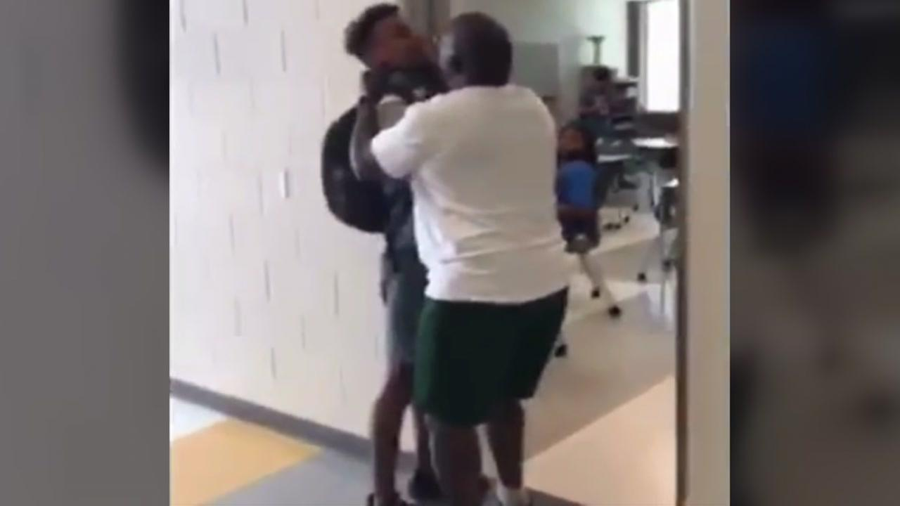 Video shows Apex High School teacher choking student