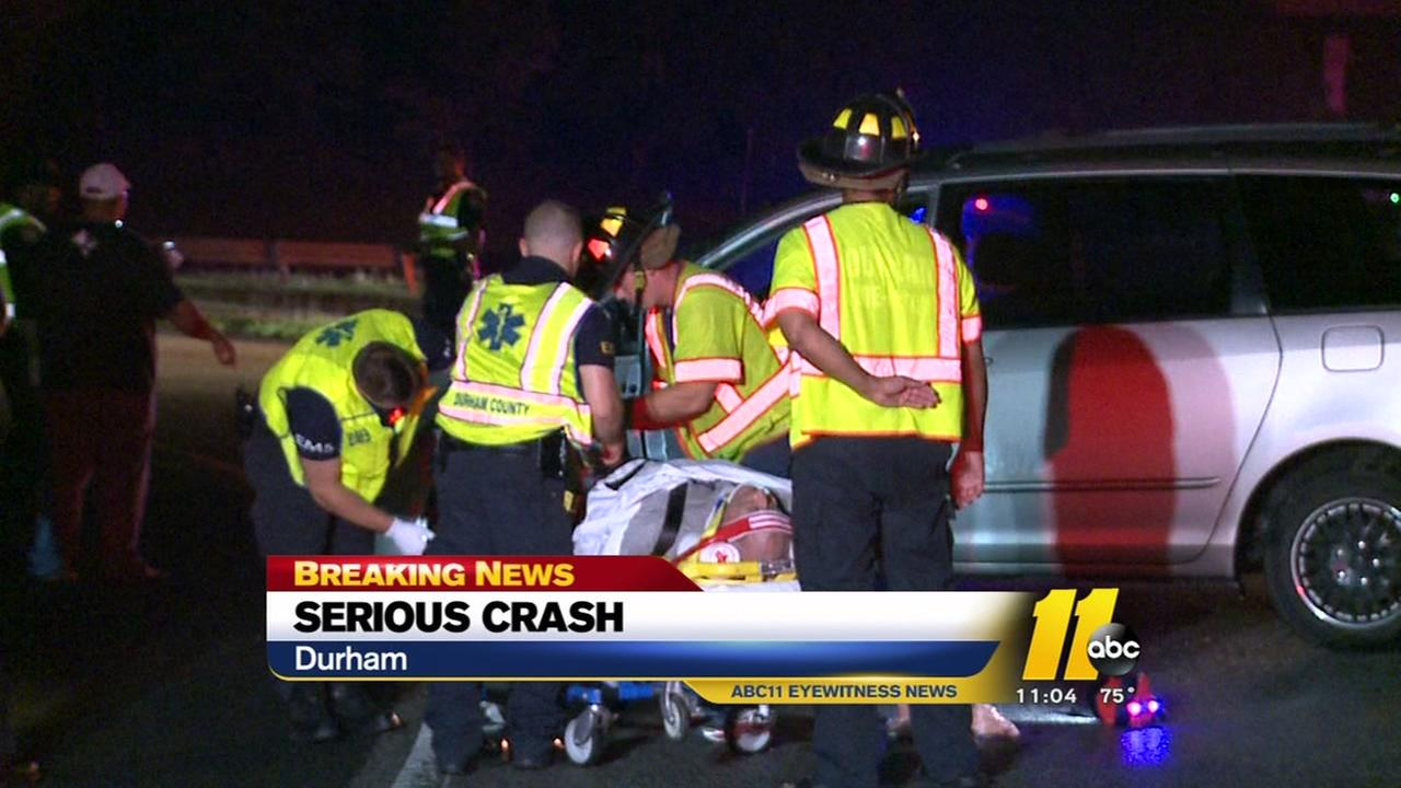 Serious crash in Durham leaves several injured