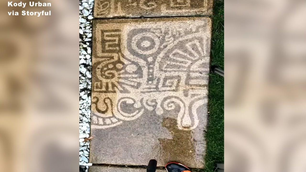 Video of man creating art with pressure washer is mesmerizing