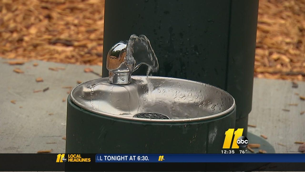 Raleigh park installs new water fountain for dogs