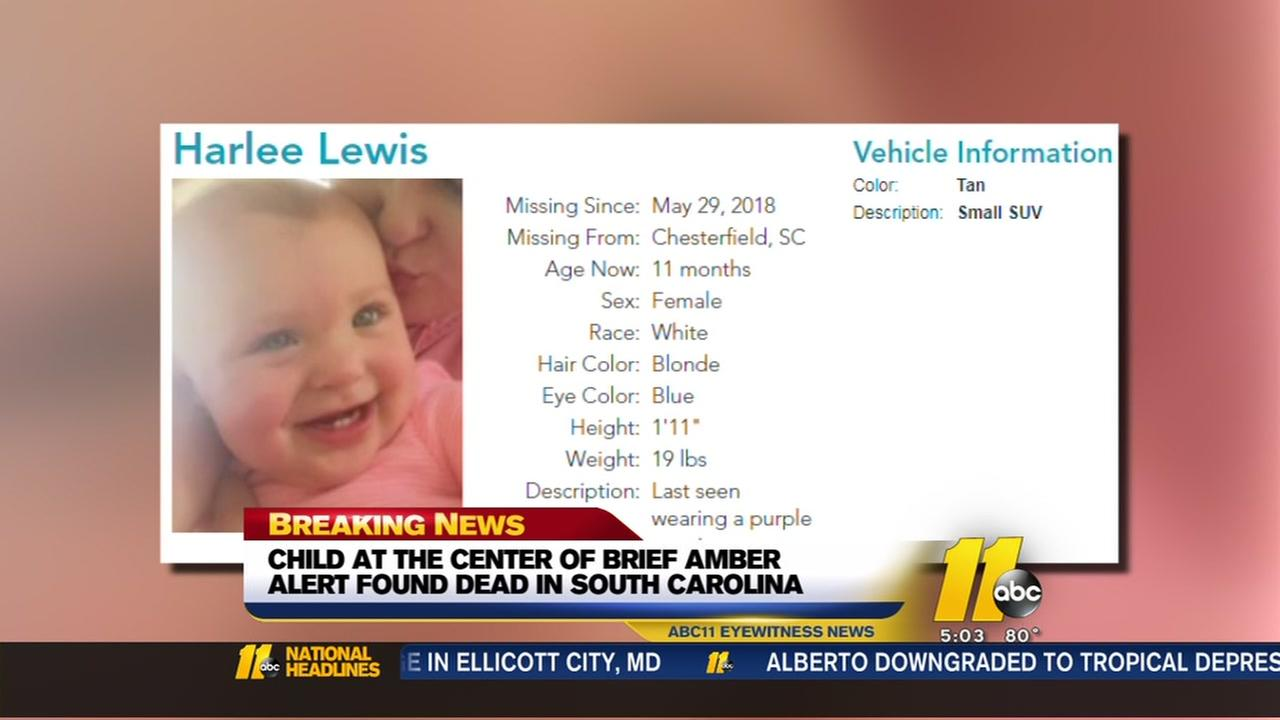 11-month-old South Carolina girl found dead