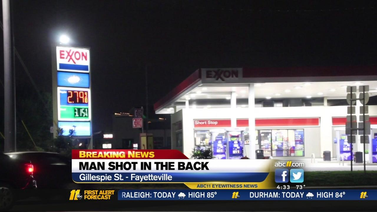 Wounded man walks into Fayetteville Exxon, says he was shot at motel