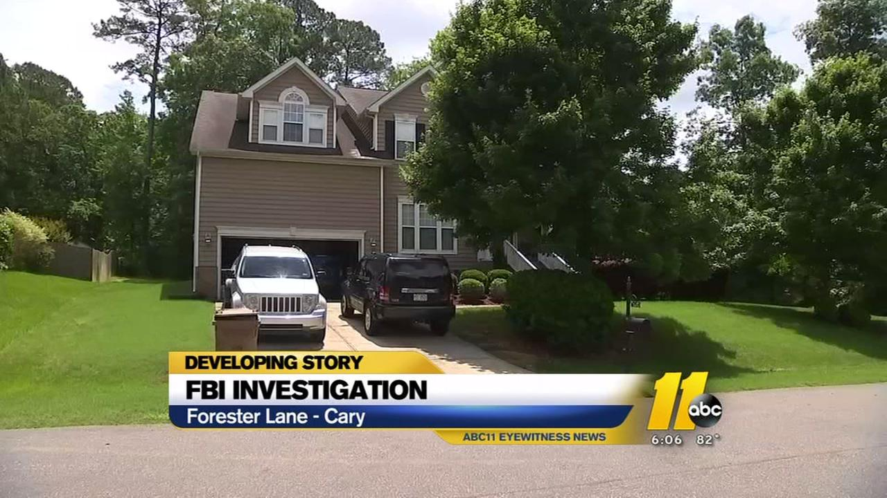 FBI investigation at Cary area home