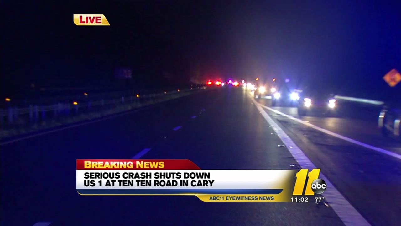Serious crash shuts down US 1