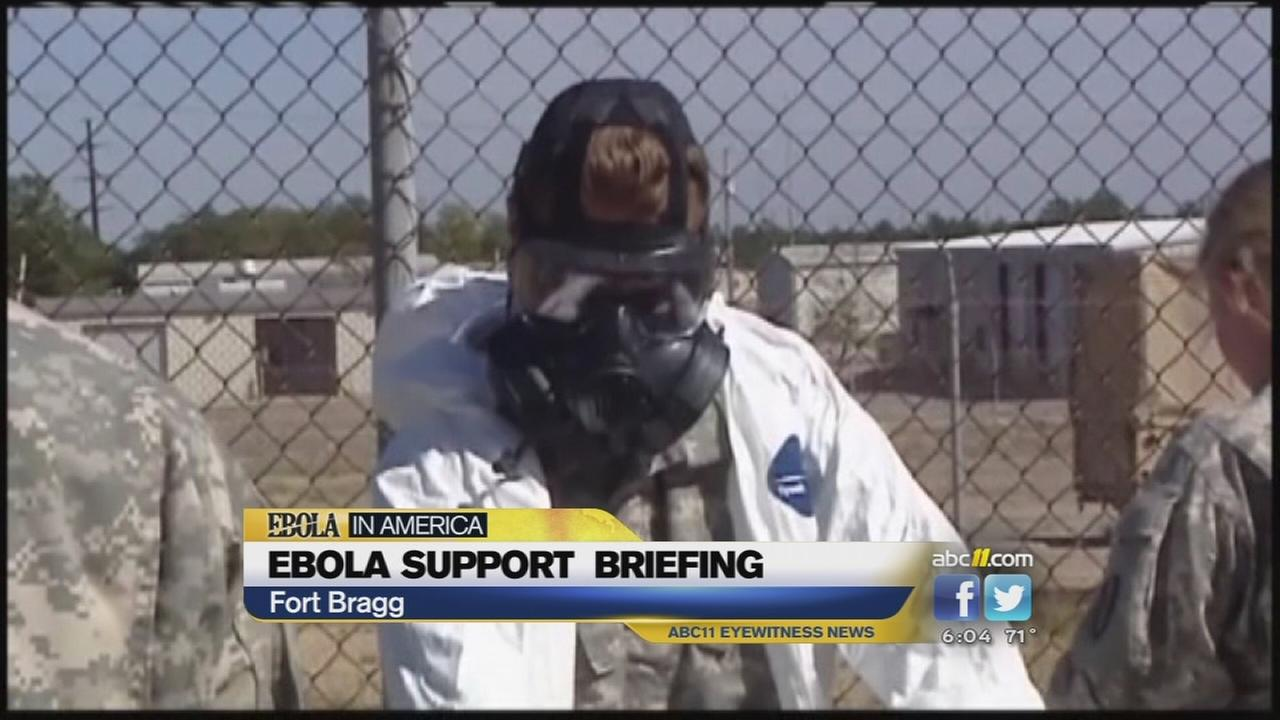 Fort Bragg soldiers prepare for mission to fight Ebola
