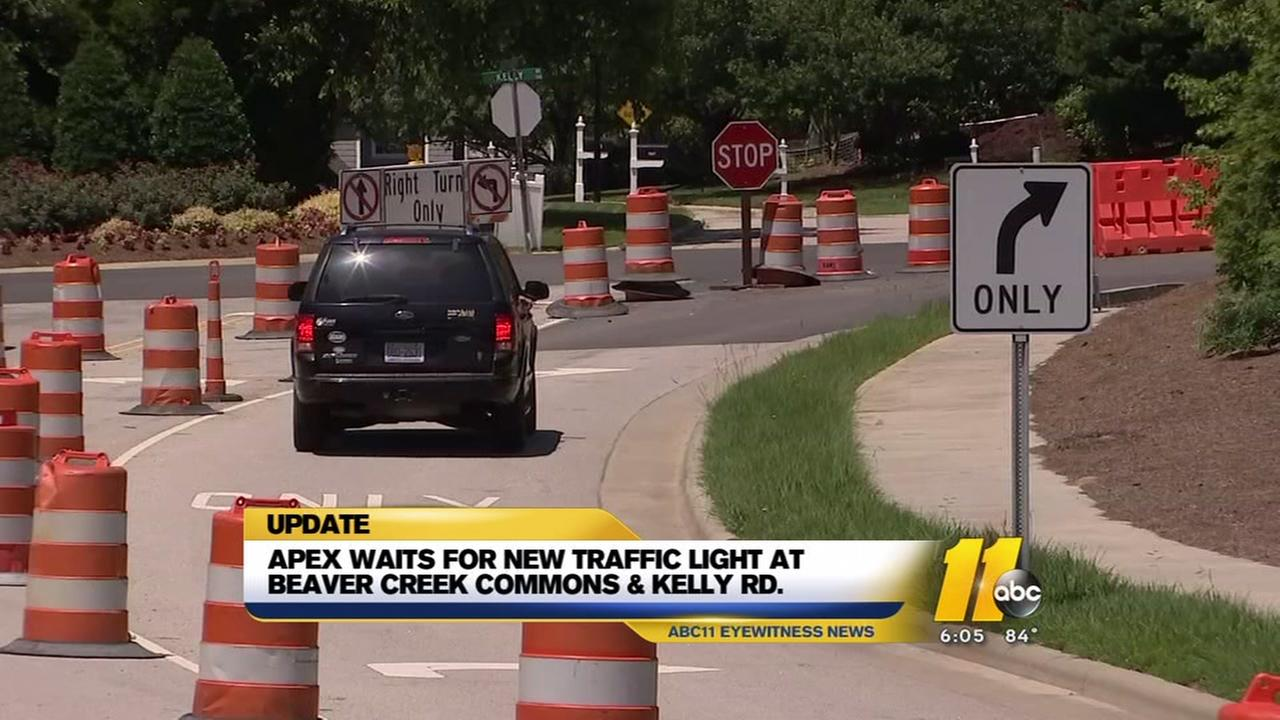 Apex residents wonder when a new stop light will get the green light