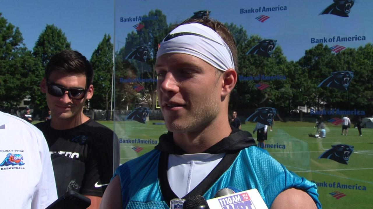 Panthers McCaffrey talks about helping save a life