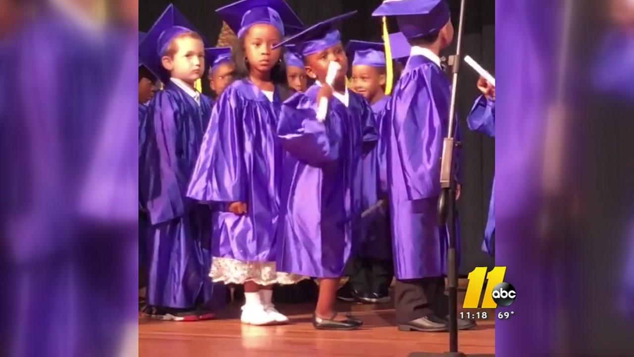 Dancing Durham 5-year-old steals show at Pre-K graduation