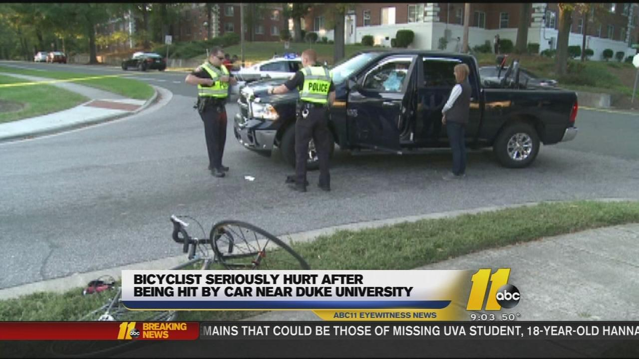 Bicyclist seriously hurt after being hit by car