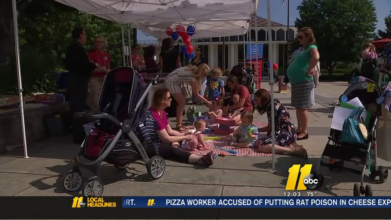 Moms, babies kick off Think Babies campaign in Raleigh