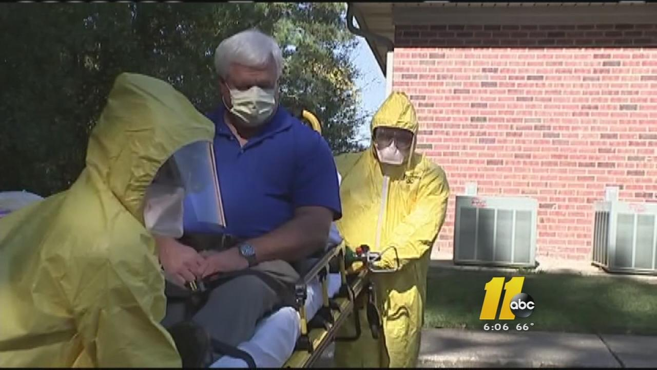 Ebola Training Drill in Fayetteville