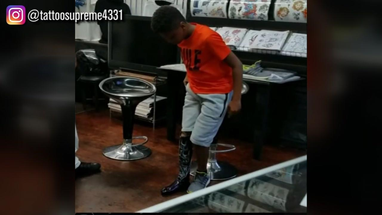 Tattoo store in Raleigh gives 10-year-old boy with prosthetic a little help from Wakanda