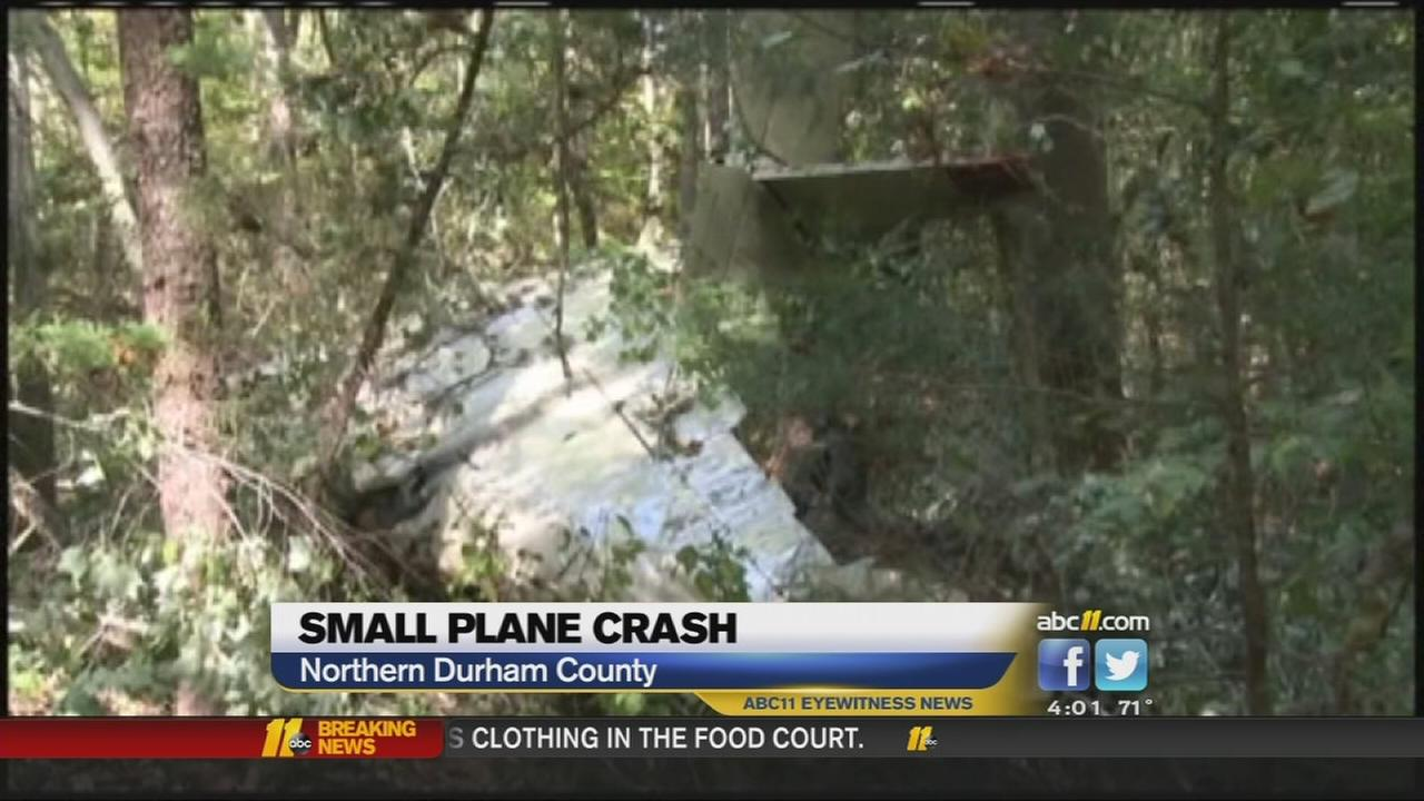 Small plane crashes in northern Durham County