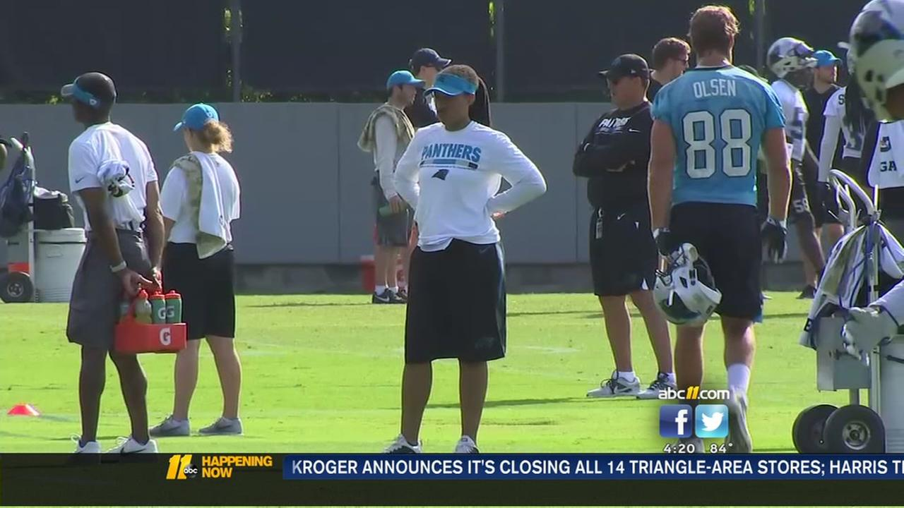 Female coach learns the ropes with the Panthers
