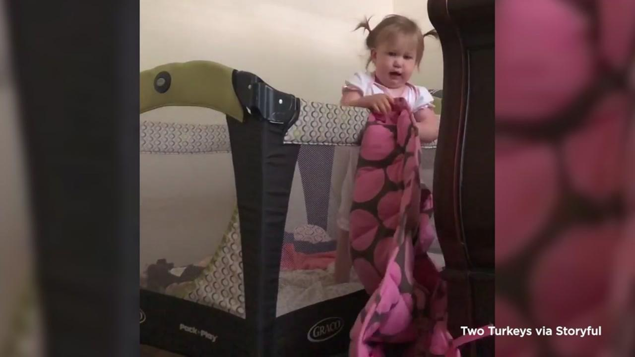 VIDEO: This mischievous toddler is truly an escape artist
