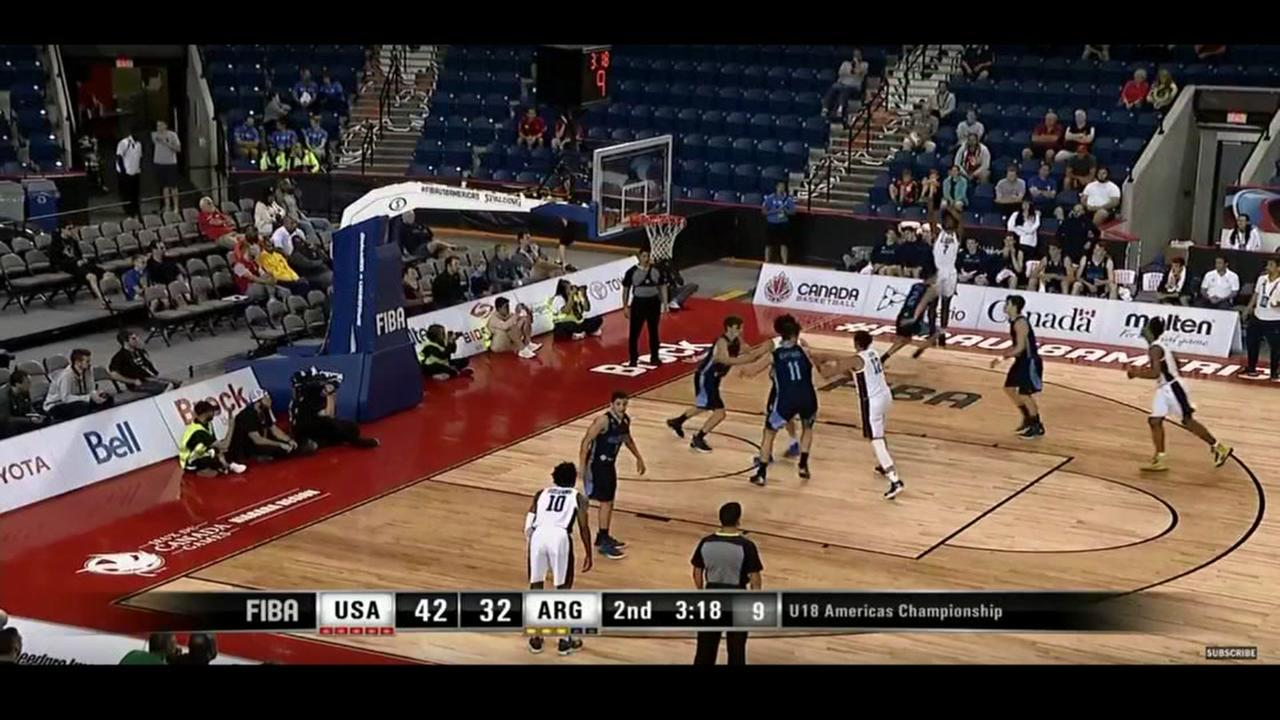 UNC freshman Coby White lighting it up in Canada