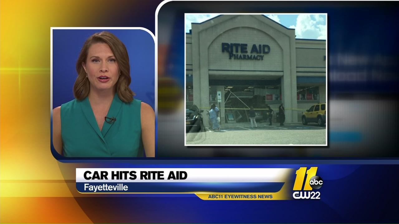 Car drives into Fayetteville Rite Aid