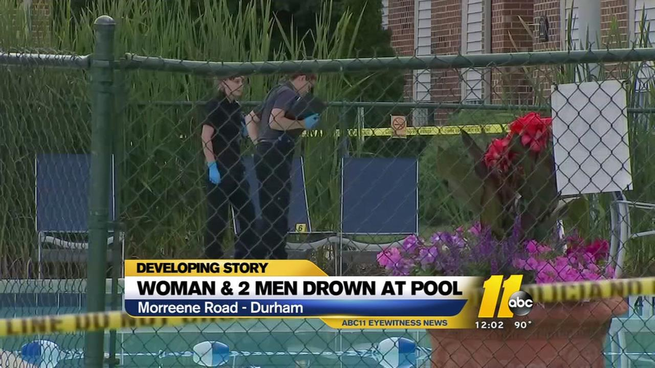 3 dead after being pulled from pool at Durham apartment complex