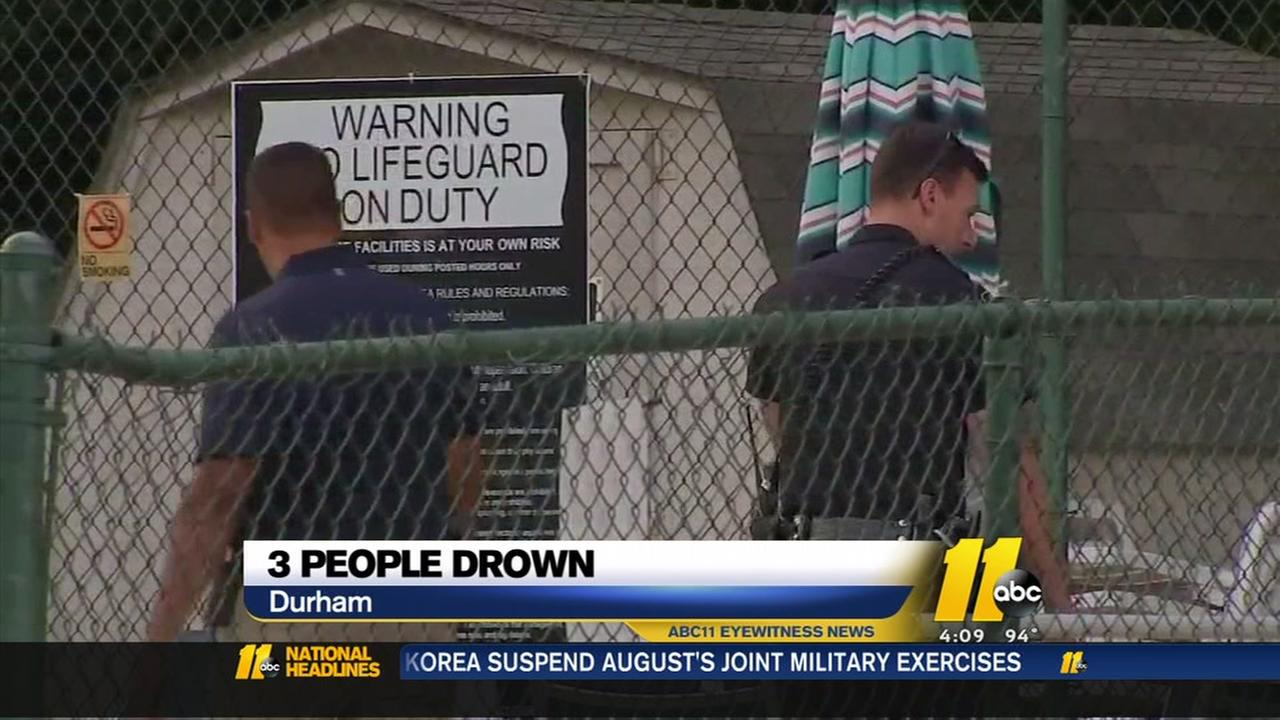 3 people dead after being pulled from pool at Durham apartment complex