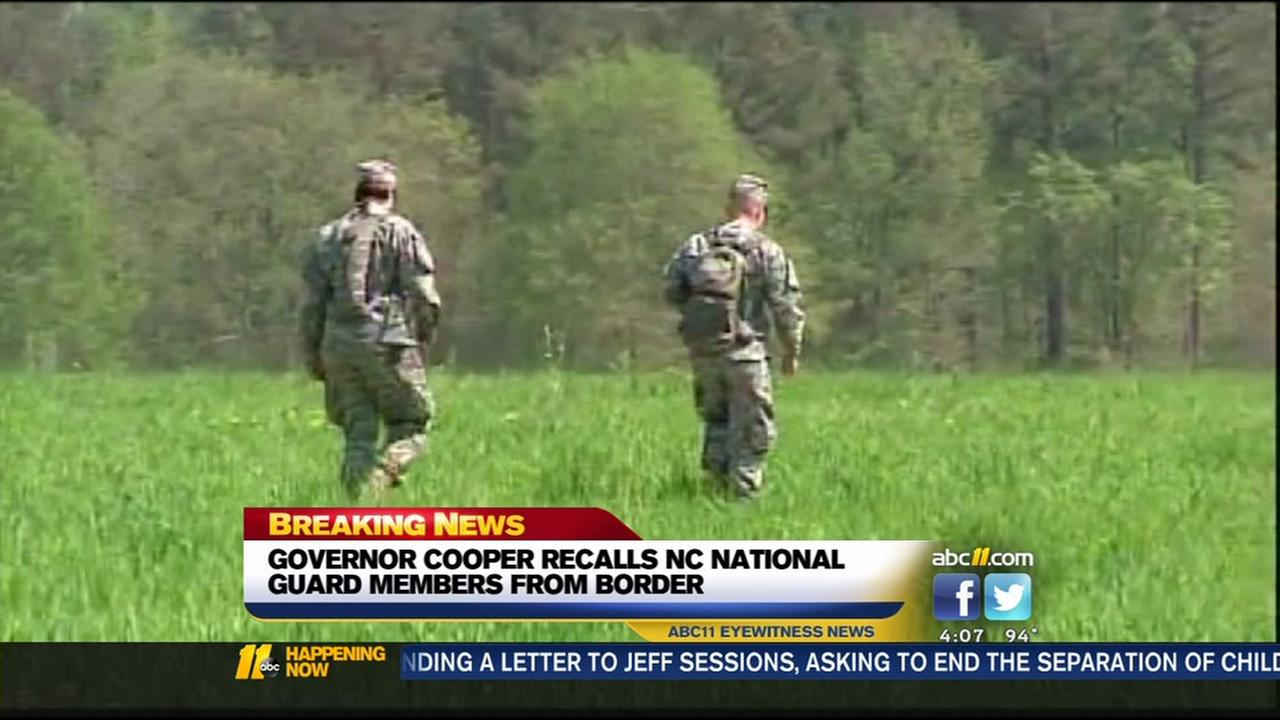Governor Cooper recalls NC National Guard members from border