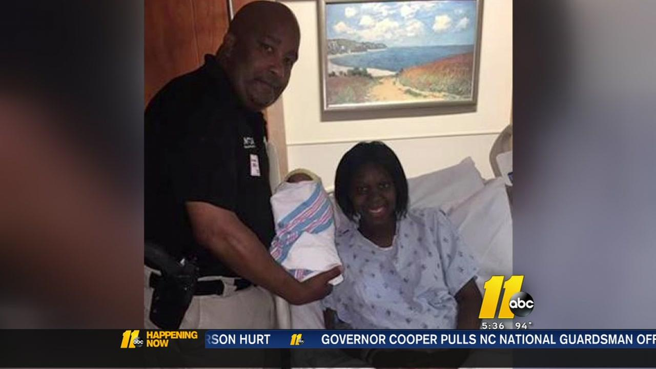 NC State Highway Patrol Sergeant helps with womans birth