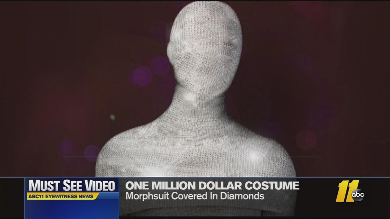 The costume is covered in diamonds