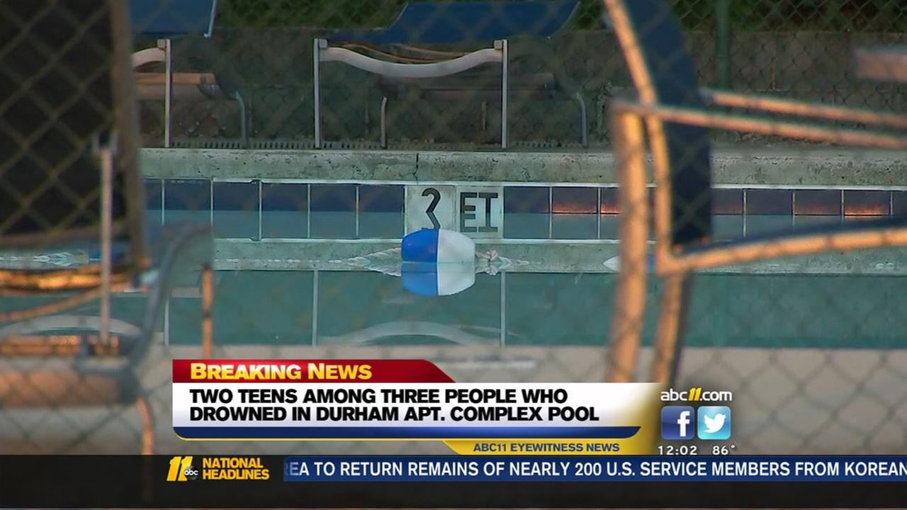 Police ID teens, man dead in triple drowning at Durham pool