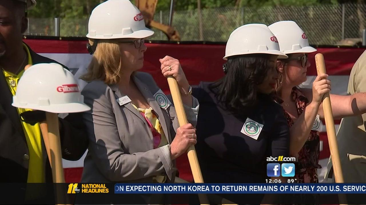 Crews break ground on homeless center in Wake County
