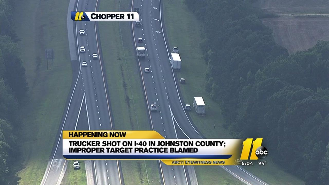 Truck driver accidentally shot