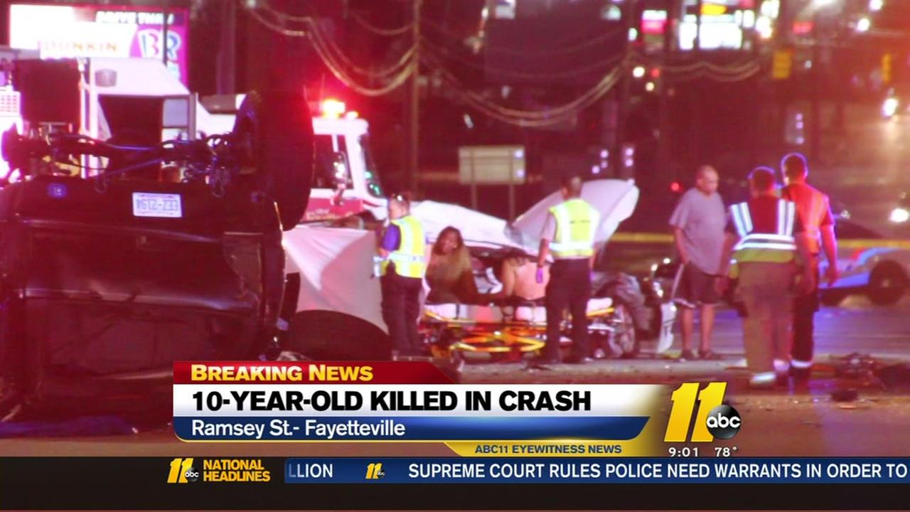 10-year-old killed in Fayetteville car crash