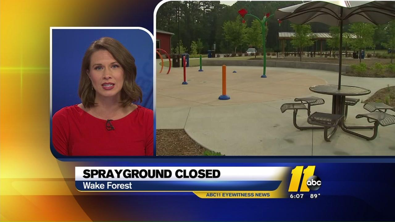 Wake Forest sprayground closes after child tampered with equipment