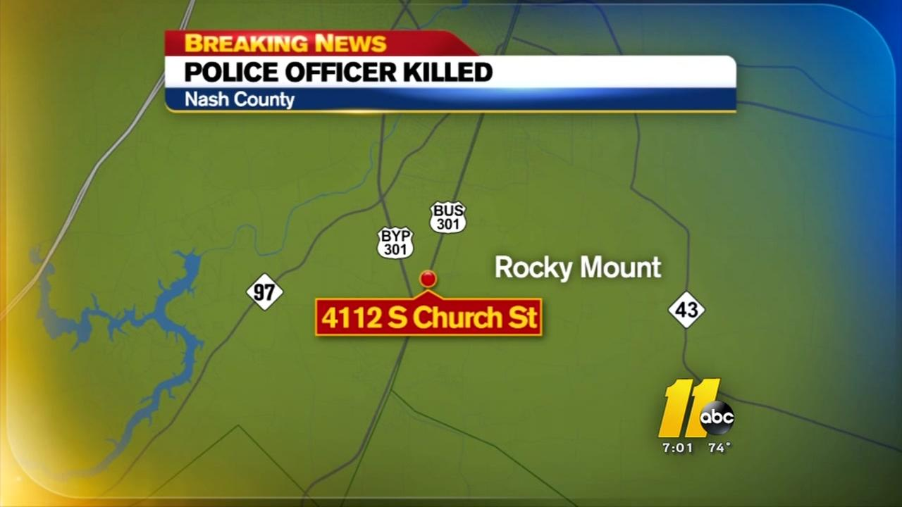 Rocky Mount police officer killed in car crash