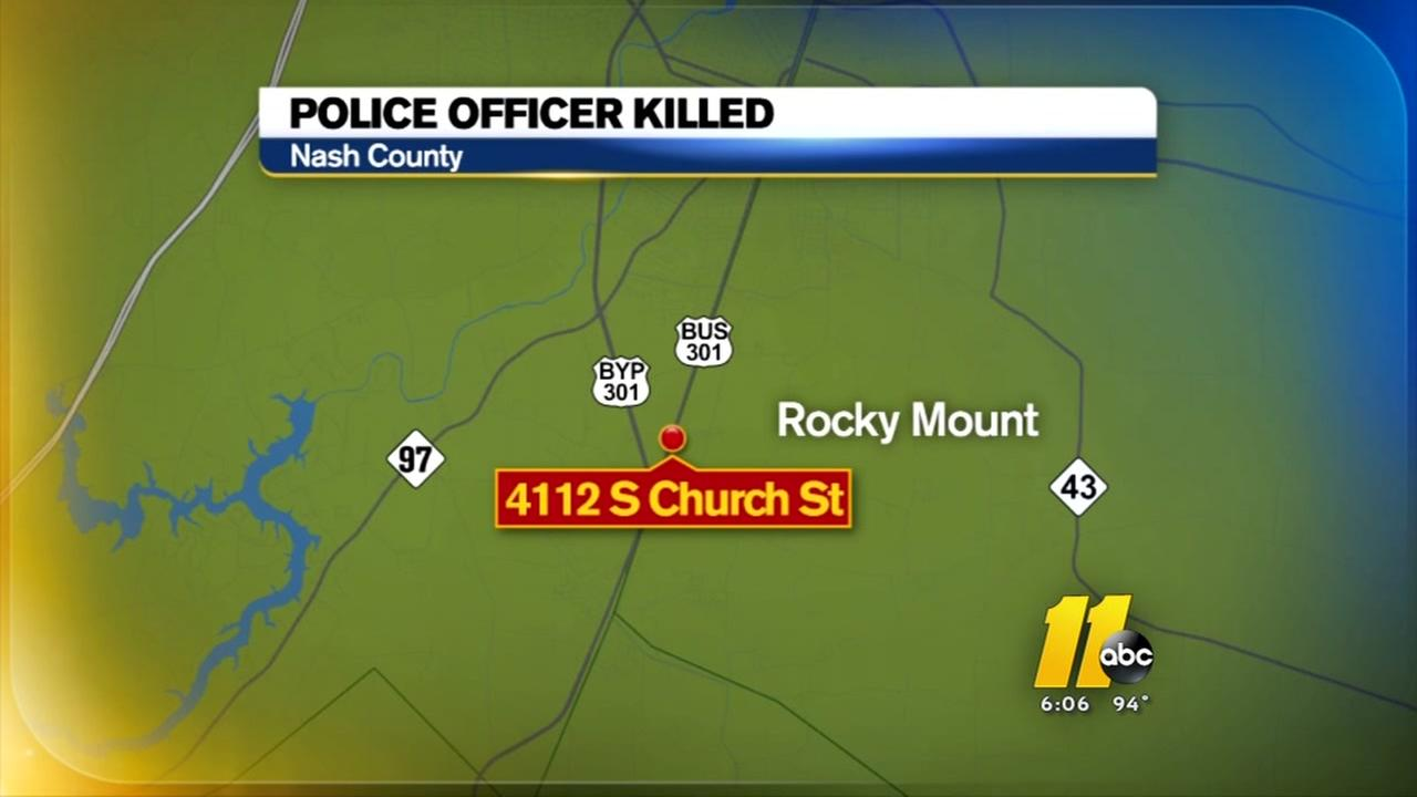 Rocky Mount police officer killed in car crash while on duty