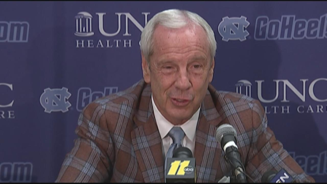 UNC head basketball coach Roy Williams on Wainstein report