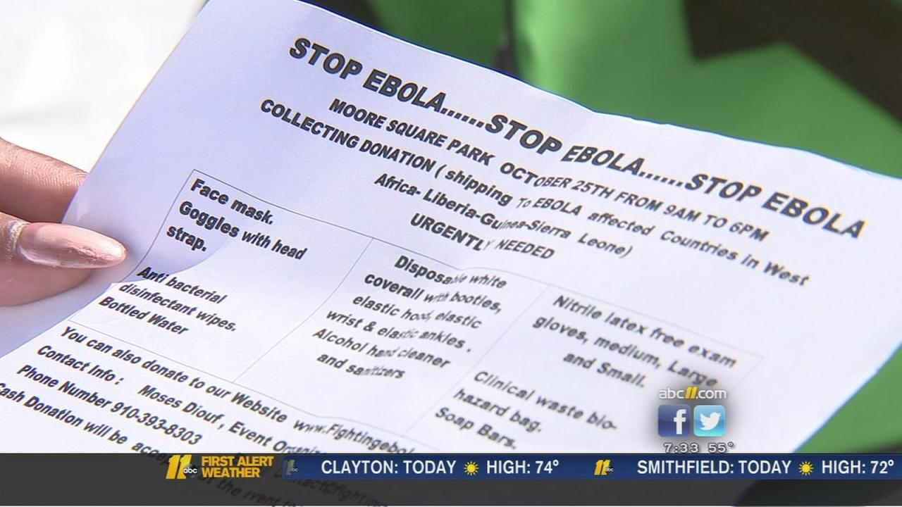 Stop Ebola event held in Raleigh; donations collected for Africa