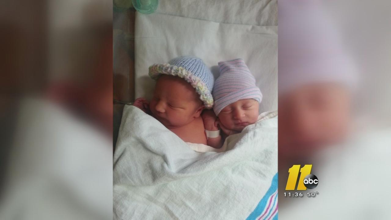 Wake Forest couple delivers their own twins on the way to Rex Hospital in Raleigh