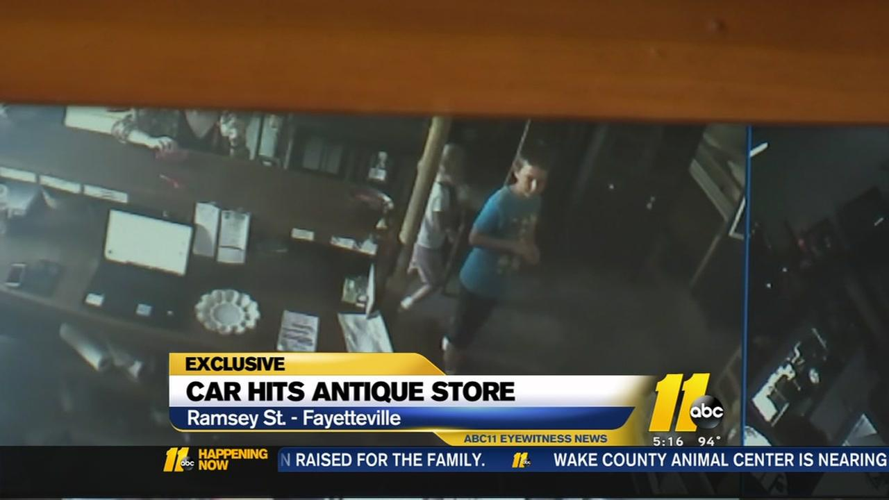 antique stores fayetteville nc SURVEILLANCE VIDEO: SUV crashes into Fayetteville antique store  antique stores fayetteville nc