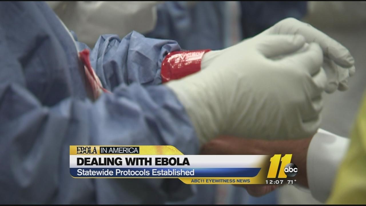 North Carolina is setting protocols for dealing with suspected Ebola patients