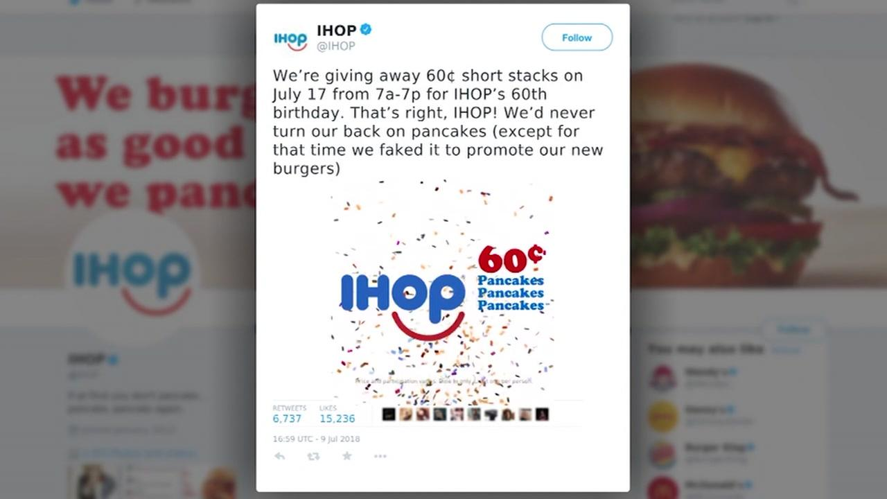IHOP acknowledges it faked IHOb name change | abc11.com
