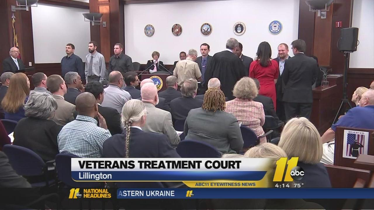 McCrory attends first veterans treatment court graduation